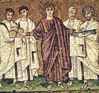 Christians in mosaic